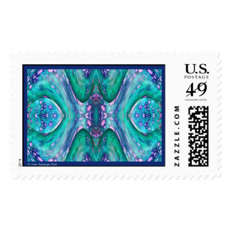 Sea Serpent Abstract Postage