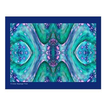 linda_mn Sea Serpent Abstract Postcard