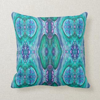 Sea Serpent Abstract Throw Pillow