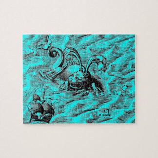 Sea Serpent and Sailing Ship Jigsaw Puzzle
