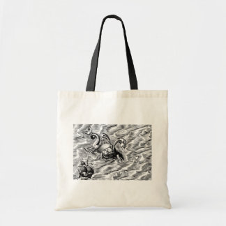 Sea Serpent and Sailing Ship Tote Bag