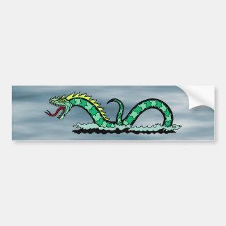 Sea Serpent Bumper Sticker Car Bumper Sticker