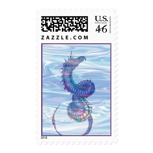"""""""Sea Serpent"""" Postage Stamps"""