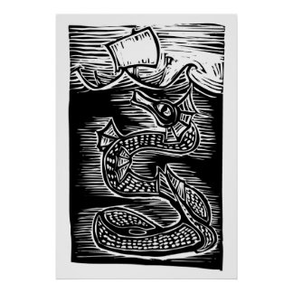Sea serpent posters