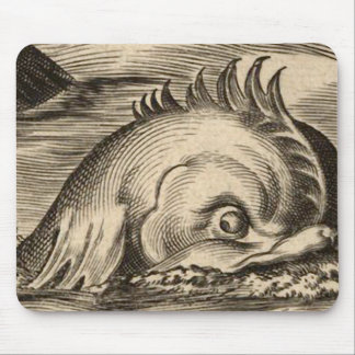 Sea Serpent Riding a Wave Mouse Pad