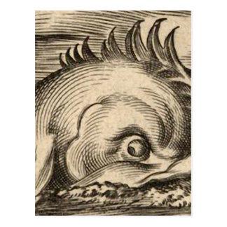 Sea Serpent Riding a Wave Postcard