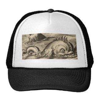 Sea Serpent Riding a Wave Trucker Hat