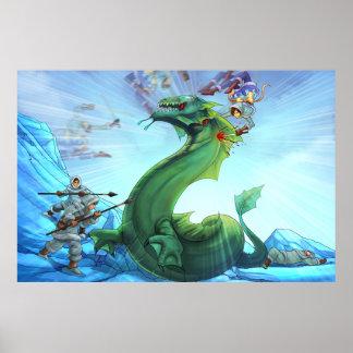 Sea Serpent Slaughter | Maya TAOFEWA Manga Poster