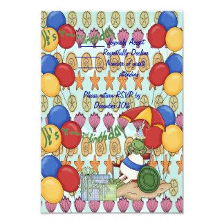 Sea Shell 2nd Birthday 3.5x5 Paper Invitation Card