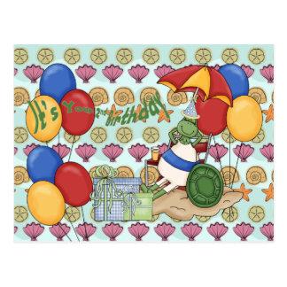 Sea Shell 2nd Birthday Post Card