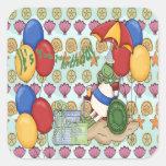 Sea Shell 2nd Birthday Square Sticker