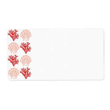 CuteLittleTreasures Sea Shell and Coral Label