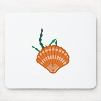 SEA SHELL AND SEAWEED MOUSE PAD