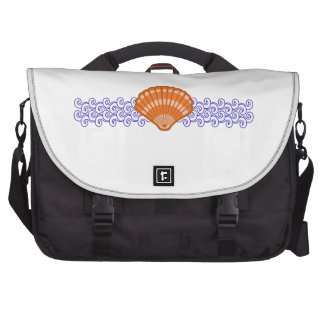 SEA SHELL AND WAVES LAPTOP BAGS