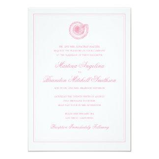 Sea Shell Beach Wedding | Traditional Invitation
