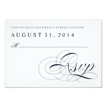 Beach Themed Sea Shell Beach Wedding | Traditional RSVP Card