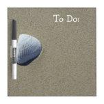 Sea Shell Beach White Board Dry-Erase Board