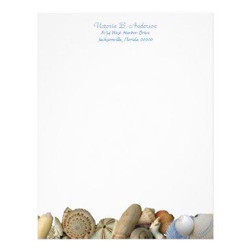 Professional Business Sea Shell Border Letterhead, 2 Letterhead