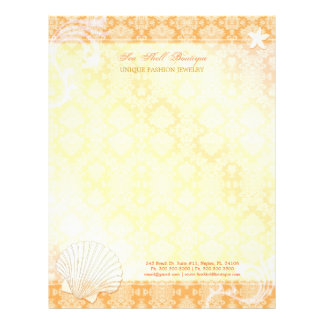 Sea Shell Business   Personal Scrapbooking Paper