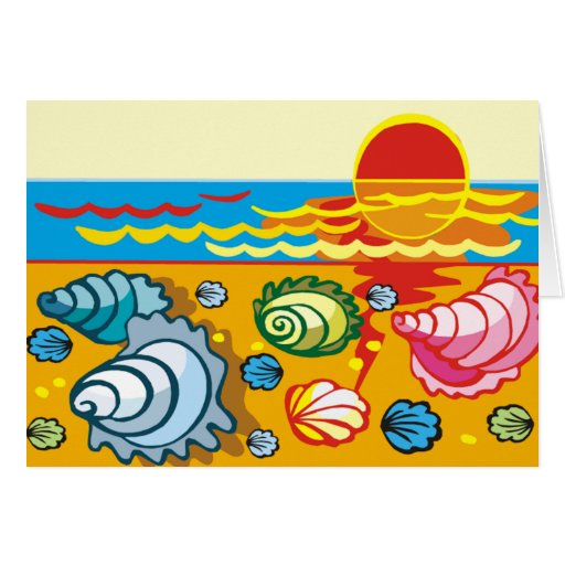 Sea Shell Composition Greeting Card