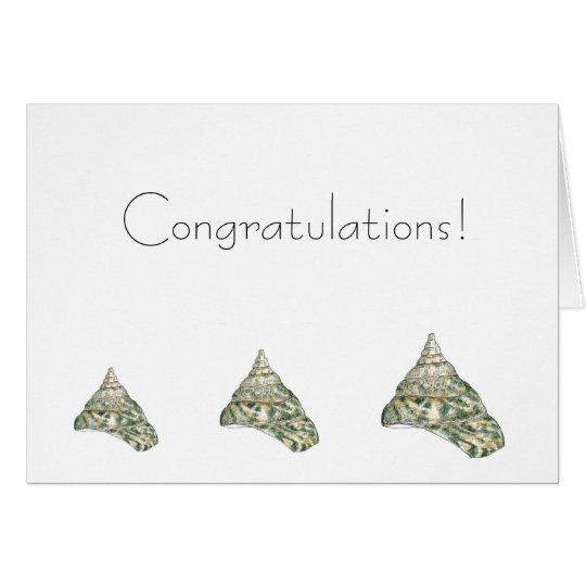Sea Shell Congratulations Card