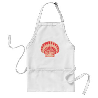 Sea shell - coral and peach adult apron