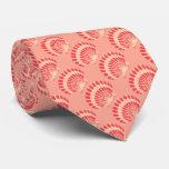 Sea shell - coral and peach custom tie
