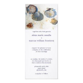 Sea Shell Elegance Wedding Invitation