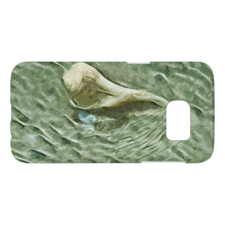 Sea Shell in Moving Water Abstract Impressionism Samsung Galaxy S7 Case
