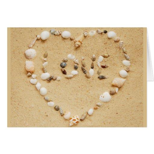 Sea Shell Love Heart Card