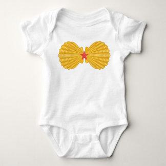 Sea Shell Mermaid Bra Baby Bodysuit