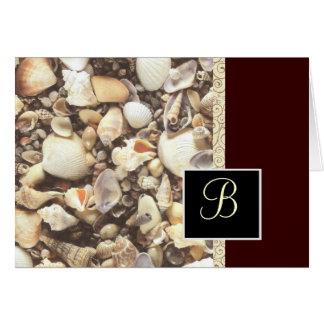 Sea Shell Monogram Note Card