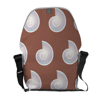 sea shell pattern brown courier bags