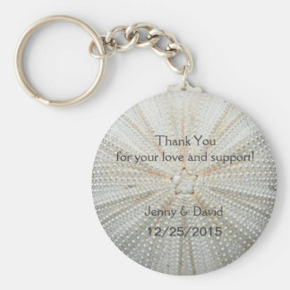 Sea Shell Personalized Key Ring Wedding Favor