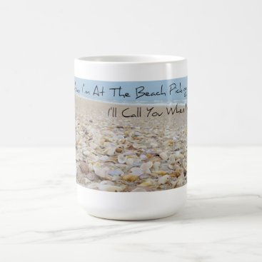 Coffee Themed Sea Shell Picker's Coffee Cup