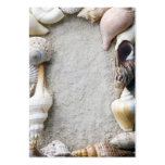 Sea Shell Sand Background - Beach Shells Customize Business Cards