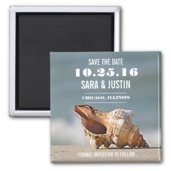 Sea Shell Save the Date Magnet