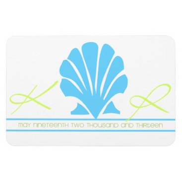 Beach Themed Sea Shell Save the Date Magnet