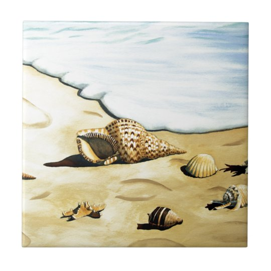 Sea Shell Series III Ceramic Tile