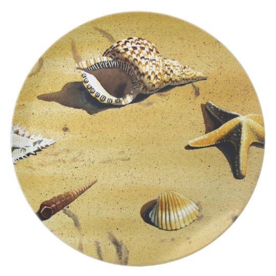 Sea Shell Series VI Melamine Plate