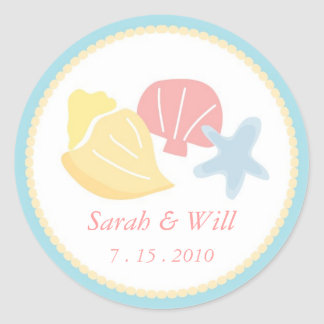 Sea Shell Stickers for Wedding and All Occasions
