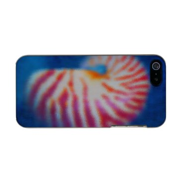 Beach Themed Sea Shell under Water Metallic iPhone SE/5/5s Case