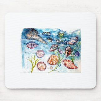 Sea Shell Watercolor painting Mouse Pads