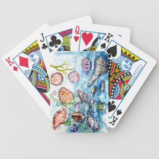 Sea Shell Watercolor painting Bicycle Playing Cards