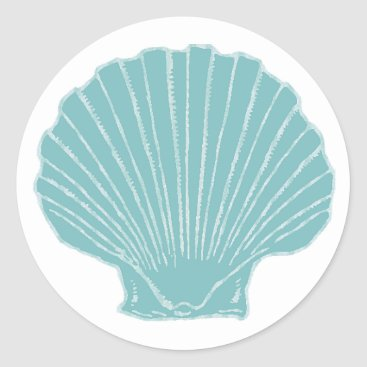 DizzyDebbie Sea Shell Wedding Envelope Seal