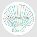 Sea Shell Wedding Envelope Seal Stickers