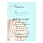 Sea Shell Wedding Rehearsal Dinner Invitation
