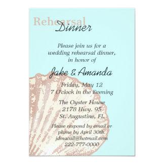Sea Shell Wedding Rehearsal Dinner Invitation