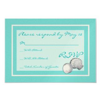 Sea Shell Wedding RSVP Cards