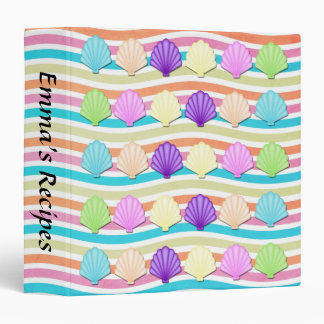 Sea Shells 3-Ring Binder